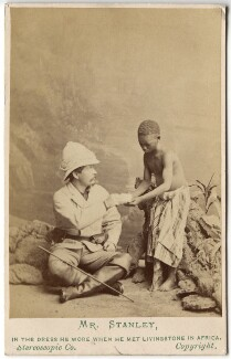 Sir Henry Morton Stanley; Kalulu (Ndugu M'hali), by London Stereoscopic & Photographic Company, 1872 - NPG  - © National Portrait Gallery, London