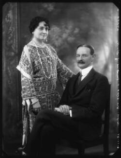 Agnes Gertrude Blanche Durell (née King), Lady Elphinstone of Glack; Sir Alexander Logie Elphinstone of Glack, 10th Bt, by Bassano Ltd - NPG x124132