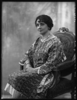 Agnes Gertrude Blanche Durell (née King), Lady Elphinstone of Glack, by Bassano Ltd - NPG x124135