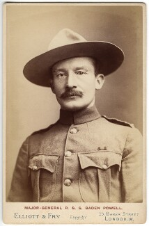 Robert Baden-Powell, by Francis Henry Hart, for  Elliott & Fry, 1896 - NPG  - © National Portrait Gallery, London