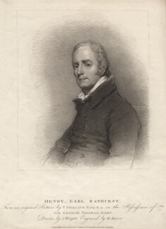 Henry Bathurst, 3rd Earl Bathurst, by Henry Meyer, after  Thomas Phillips, published 1810 - NPG D16257 - © National Portrait Gallery, London