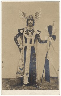 Henry Cyril Paget, 5th Marquess of Anglesey in costume for the Headgear fancy-dress ball, by Unknown photographer - NPG x126386