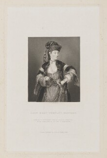 Unknown woman, called Lady Mary Wortley Montagu, by William Greatbach, published by  Richard Bentley - NPG D16265