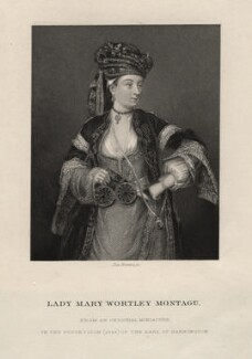 Unknown woman, called Lady Mary Wortley Montagu, by Joseph Brown - NPG D16266