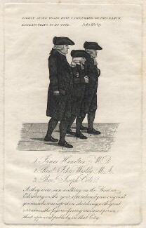 James Hamilton; John Wesley; Joseph Cole, by Consitt & Goodwill, after  John Kay - NPG D16248
