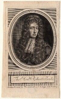 Robert Boyle, by Robert White, after  Johann Kerseboom, late 17th century - NPG D16244 - © National Portrait Gallery, London