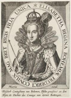 Princess Elizabeth, Queen of Bohemia and Electress Palatine, published by Pieter van den Keere (Petrus Kaerius) - NPG D18892
