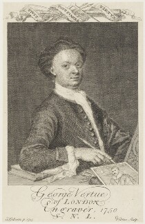 George Vertue, by George Vertue, after  Thomas Gibson, 1750 (1715) - NPG D18895 - © National Portrait Gallery, London