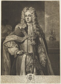 Thomas Wentworth, 1st Earl of Strafford, by John Simon, published by  Edward Cooper, after  Charles D'Agar - NPG D18903