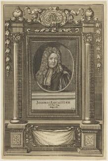 John Radcliffe, by Johann Ulrich Kraus, after  Sir Godfrey Kneller, Bt - NPG D18911