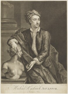 John Michael Rysbrack, by John Faber Jr, after  John Vanderbank - NPG D18928