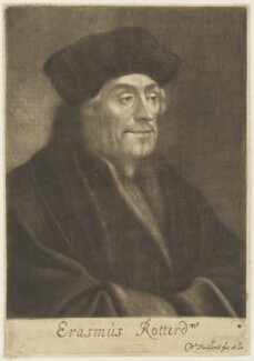 Desiderius Erasmus, by and published by Wallerant Vaillant - NPG D18974