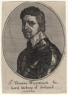 Thomas Wentworth, 1st Earl of Strafford, by Richard Gaywood, after  Wenceslaus Hollar, after  Sir Anthony van Dyck - NPG D16306