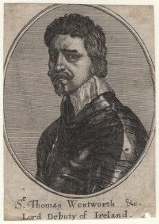 Thomas Wentworth, 1st Earl of Strafford, by Richard Gaywood, after  Wenceslaus Hollar, after  Sir Anthony van Dyck - NPG D16305
