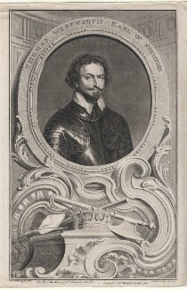 Thomas Wentworth, 1st Earl of Strafford, by Jacobus Houbraken, published by  John & Paul Knapton, after  Sir Anthony van Dyck - NPG D16345