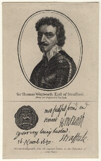 Thomas Wentworth, 1st Earl of Strafford, after Sir Anthony van Dyck - NPG D16307