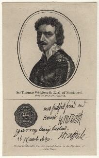 Thomas Wentworth, 1st Earl of Strafford, after Sir Anthony van Dyck, (circa 1636) - NPG D16307 - © National Portrait Gallery, London