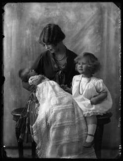 Hon. Brigid Verena Browne; Mildred Helen, Lady Oranmore and Browne; Hon. Patricia Helen Cayzer, by Bassano Ltd - NPG x124219