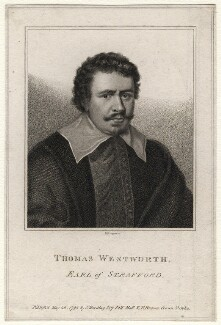 Thomas Wentworth, 1st Earl of Strafford, by E. Bocquet, published by  Silvester Harding, published by  Peter Brown, after  Sir Anthony van Dyck - NPG D16339