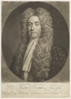 Sir Hans Sloane, Bt, by John Faber Jr, published by  Philip Overton, after  Thomas Murray - NPG D18981