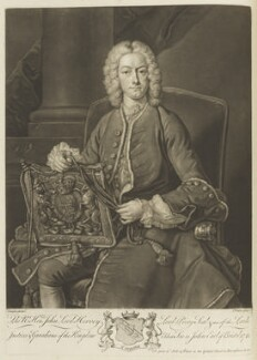 John Hervey, Baron Hervey of Ickworth, by and published by John Faber Jr, after  Jean Baptiste van Loo - NPG D18999