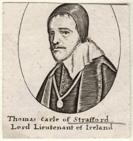 Thomas Wentworth, 1st Earl of Strafford, after Wenceslaus Hollar - NPG D16321