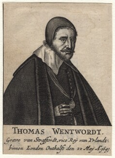 Thomas Wentworth, 1st Earl of Strafford, after Wenceslaus Hollar - NPG D16322