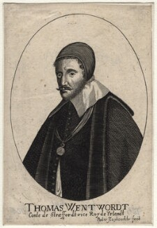 Thomas Wentworth, 1st Earl of Strafford, by Peeter Huybrechts, after  Wenceslaus Hollar - NPG D16318