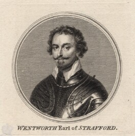 Thomas Wentworth, 1st Earl of Strafford, by Sir Robert Strange, after  Sir Anthony van Dyck - NPG D16324