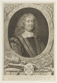 Edward Hyde, 1st Earl of Clarendon, by Robert White, after  Sir Peter Lely - NPG D19011