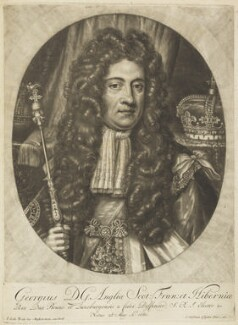 King George II, by and published by Jacob Gole, after  Johann Leonhard Hirschmann, circa 1700-1725 - NPG D19016 - © National Portrait Gallery, London