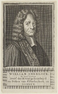 William Sherlock, by Unknown engraver - NPG D19019