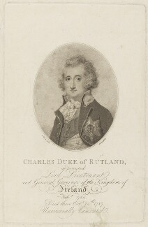 Charles Manners, 4th Duke of Rutland, by William Lane, after  Richard Cosway - NPG D19028