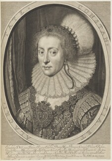 Princess Elizabeth, Queen of Bohemia and Electress Palatine, by Willem Jacobsz Delff, after  Michiel Jansz. van Miereveldt - NPG D19040