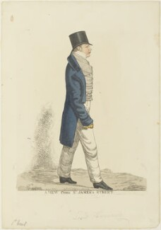 Dudley Ryder, 1st Earl of Harrowby ('A view from St James's Street'), by and published by Richard Dighton, reissued by  Thomas McLean - NPG D19047