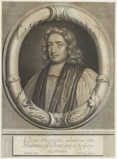 John Wilkins, by Abraham Blooteling (Bloteling), after  Mary Beale - NPG D19054