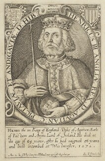 Called King Henry III, by Renold or Reginold Elstrack (Elstracke), published by  Compton Holland, published 1628 - NPG D19058 - © National Portrait Gallery, London