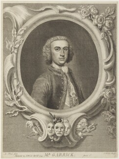 David Garrick, by and published by J. Wood, after  Arthur Pond, published 29 April 1745 - NPG D19067 - © National Portrait Gallery, London