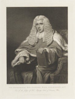 Sir Edward Hall Alderson, by William Skelton, published by  William Johnstone White, after  Henry Perronet Briggs - NPG D19073