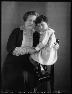 Mrs Henry ('Harry') Greenstone; Adrian Gerald Foley, 8th Baron Foley, by Bassano Ltd - NPG x124360