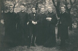 Cavendish Morton with five clerics, by Cavendish Morton - NPG x45650