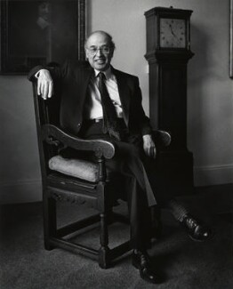 Sir Michael Francis Atiyah, by Anne-Katrin Purkiss, March 1991 - NPG x36181 - © National Portrait Gallery, London