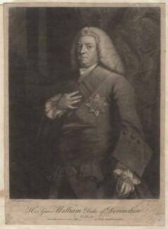 William Cavendish, 3rd Duke of Devonshire, by John Faber Jr, after  Sir Joshua Reynolds - NPG D16392