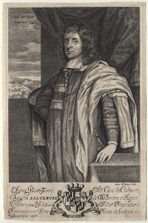 Cecil Calvert, 2nd Baron Baltimore, by Abraham Blooteling (Bloteling), after  Unknown artist - NPG D13820