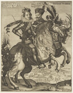 Frederick V, King of Bohemia and Elector Palatine; Gabriel Bethlen, published by Claes Jansz Visscher - NPG D19106