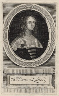 Jane (née Lane), Lady Fisher, by George Vertue, 1709 - NPG D16399 - © National Portrait Gallery, London