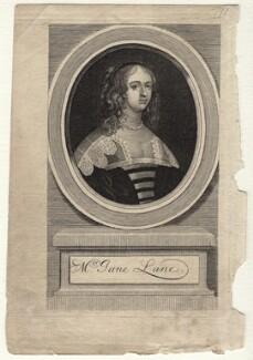 Jane (née Lane), Lady Fisher, by George Vertue - NPG D16400