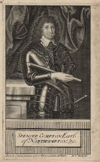Spencer Compton, 2nd Earl of Northampton, by Michael Vandergucht, after  Cornelius Johnson (Cornelius Janssen van Ceulen) - NPG D16403