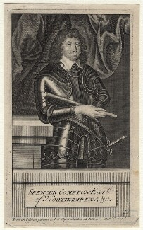 Spencer Compton, 2nd Earl of Northampton, by Michael Vandergucht, after  Cornelius Johnson (Cornelius Janssen van Ceulen) - NPG D16402
