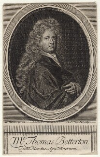 Thomas Betterton, by Michael Vandergucht, after  Sir Godfrey Kneller, Bt - NPG D16404